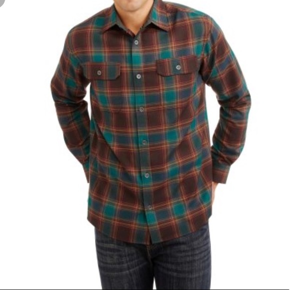 7cf2f353dbe Swiss Tech Men s Long Sleeve Flannel Shirt S
